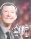 Celebrating Sir Alexs magnificent orchestration of Manchester Uniteds historic treble cup success of 1999.