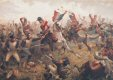 Sgt Ewart is shown taking the French standard from the 45th French Infantry Regiment. Ewart cut down two French soldiers and the standard Bearer to keep hold of the Eagle and standard, he was ordered to take it to the rear. By being ordered to the re......