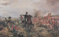 This subject shows the Duke of Wellington, Arthur Wellesley, offering encouragement to the infantry at some stage in the battle.