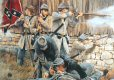 Confederate skirmishers of the 19th Virginia Volunteers take over behind a farmhouse during the early stages of the war 1861. ......
