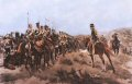 The Light Brigade had 195 mounted survivors, leaving 113 dead and 134 wounded with 231 unhorsed men.   After the charge of the Light Brigade, the Roll is shown being carried out.