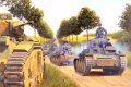 General Major Erwin Rommel leads the vanguard of his vaunted 7th Panzer (Ghost) Division past an abandoned French Char B tank on its epic drive from the Ardennes to the English Channel.......