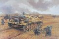 Sturmgeschutz IIIF of Stug Battalion Grossdeutschland, and supporting infantry from GD Regiment 1 battle against Soviet forces defending the strategically important city of Voronezh on the Don. Combined arms operations such as this proved the value o......