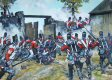 The British 1st Foot Guards and Coldstream Guards rush to defend the gate of Hougoumont Farm against a fierce French attack during the battle of Waterloo.  During the battle, the Coldstream Guards lost 97 killed, 446 wounded and 4 missing, while the......