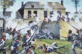 The fierce attack by the French infantry on Hougoumont Farm during the battle of Waterloo. ......
