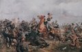 Another great view and interpretation by John Charlton, of the 17th lancers at the Russian Guns.