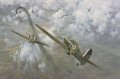 High over London, Hurricanes of 85 Squadron engage Me109s in an intense dogfight during the heavy fighting of August 1940. ......