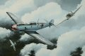 Depicting the No.19 Sqn Spitfire Mk.IIA of Flt Lt Walter Lawson attacking a Bf.109 E-4 of JG.3 in the Summer of 1940. The final tally of Lawson before he was listed as missing in August 1941 was 6 confirmed, 1 shared, 3 probables and 1 damaged.  The......
