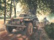 Northern France, 22nd May 1940.  Sdkfz 222 light armoured cars of the SS Leibstandarte Regiment drive along French lanes on a reconnaissance patrol for the forces of General Heinz Guderian on their advance towards the French coast. ......