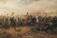 Depicting the charge  before they reach the Russian guns, the picture starts to show a confusion beginning to appear in the desperate charge.