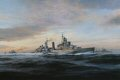 At the outbreak of World War II, H.M.S. Belfast had already joined the Home Fleet operating out of Scapa Flow. Patrolling north of the Faeroes in October 1939 she came across and captured the German liner Cap Norte. This success was short-lived, how......