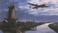 No single raid during World War Two has attracted more discussion, analysis, features, books, interviews, or been the subject of more films, documentaries, and TV programmes than the famous attack mounted by the RAFs 617 Squadron upon the mighty hydroelectric dams in Westphalia, on the night of 16/17 May, 1943. Led by Wing Commander Guy Gibson, nineteen specially adapted Lancaster bombers, manned by 133 aircrew, culminated months of secret training when they made one of the most audacious raids of the war. Flying at tree-top height in darkness, and doing their best to avoid electricity pylons and other obstructions, they navigated their way deep into occupied territory. Their targets were the huge Mohne, Sorpe, Ennepe, and Eder Dams that powered Germanys huge industrial factories in the heartland of the Rhur. Each bomber had to avoid enemy flak and fighters en route, locate their target, descend to precisely 60 feet above the water then, in the face of a barrage of anti-aircraft fire, release their single unique 10,000 lb hydrostatic bomb at exactly the right moment. There was no margin for error, and there was no place for faint hearts. Eight of the crews that left RAF Scampton that night were never to return. Of the fifty-six aircrew on board only two survived. Though nearly half the skilled crews that made up 617 squadron were lost, they recorded one of the most successful and daring air raids of the war- a costly endeavour, but one that has become legend in the annals of aerial warfare. Nicolas Trudgians emotive painting Homeward Bound depicts Dave Shannons Lancaster AJ-L, dodging the searchlights low over the Dutch landscape, as he returns from the Eder Dam following the part he and his crew played in the famous raid on that moonlight night in May, 1943.<br><br><b>Published 2000.</b>