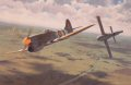 With all his ammunition spent on other interceptions, Wing Commander Beamont in his Hawker Tempest MKV tips a German flying VI bomb to its destruction with his wingtip during the summer of 1944. ......
