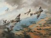 Johnnie Johnson leads his Canadian Wing Spitfires over the Normandy beaches on D-Day, 1944. ......