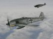 FW 190 A-8/R-8 Sturmbock no 681382 of Hauptmann Wilhelm Moritz stalks a formation of B-17 Flying Fortresses.  Moritz led 4JG3, the Luftaffes first dedicated Sturmgruppe for seven months from April to November 44 before being relieved from exhaustion......