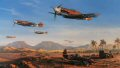Nicolas Trudgians painting Desert Victory recreates all the atmosphere of the North African desert war with a stunning portrayal of the Me109s of 3./JG-27. The wing is depicted being led by Staffelkapitan Gerhard Homuth as they escort Afrikakorps armor heading for the front line at Gazala, Libya, on February 21, 1942. Flying alongside Homuth, the great Luftwaffe Ace Joachim Marseille scored his 49th and 50th victories on this day, earning his Knights Cross. Below, the crew of an SdKfz 10 light half-track stop to investigate a crashed P-40 Kittyhawk belonging to No 112 Squadron RAF, brought down during an earlier contest.