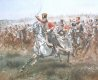 Charge of the 4th Regiment of Hussars at the Battle of Friedland, June 14th 1807.