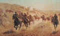 Depicting the charge of the Bucks, Berks and Dorset Yeomanry on November 13th 1917 during the Palestine campaign.