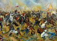 The Battle of Aliwal was fought on 28th January 1846 between the British and the Sikhs.  The British were led by Sir Harry Smith, while the Sikhs were led by Ranjodh Singh Majithia.  The British won a victory which is sometimes regarded as the turning point of the First Anglo-Sikh War.  The Sikhs had occupied a position 4 miles (6.4 km) long, which ran along a ridge between the villages of Aliwal, on the Sutlej, and Bhundri.  The Sutlej ran close to their rear for the entire length of their line, making it difficult for them to manoeuvre and also potentially disastrous if they were forced to retreat.  After the initial artillery salvoes, Smith determined that Aliwal was the Sikh weak point.  He sent two of his four infantry brigades to capture the village, from where they could enfilade the Sikh centre.  They seized the village, and began pressing forwards to threaten the fords across the Sutlej.  As the Sikhs tried to swing back their left, pivoting on Bhundri, some of their cavalry tried to threaten the open British left flank.  A British and Indian cavalry brigade, led by the 16th Lancers, charged and dispersed them.  The 16th Lancers then attacked a large body of Sikh infantry.  These were battalions organised and trained in contemporary European fashion by Neapolitan mercenary, Paolo Di Avitabile.  They formed square to receive cavalry, as most European armies did.  Nevertheless, the 16th Lancers broke them, with heavy casualties.  The infantry in the Sikh centre tried to defend a nullah (dry stream bed), but were enfiladed and forced into the open by a Bengal infantry regiment, and then cut down by fire from Smith&#39;s batteries of Bengal Horse Artillery.  Unlike most of the battles of both Anglo-Sikh Wars, when the Sikhs at Aliwal began to retreat, the retreat quickly turned into a disorderly rout across the fords.  Most of the Sikh guns were abandoned, either on the river bank or in the fords, along with all baggage, tents and supplies.  They lost 2,000 men and 67 guns. <i><br><br>Comment from the artist, Jason Askew.</i><br><br>This painting shows the extremely violent and brutal clash between British cavalry (16th Lancers) and Sikh infantry at the battle of Aliwal.  The Sikh infantry formed 2 triangles, a version of the famous Allied/British squares used at Waterloo, but the Sikhs, after firing a ragged volley at the attacking horsemen, dropped their muskets and assaulted the cavalry with their traditional Tulwars (sabres) and dhal shields.  These shields are also used offensively, to punch, and to slice with the edge.  Although the British horsemen claimed a victory as they felt they successfully dispersed the Sikh triangles, and forced the Sikh infantry to retreat to the nullah (dry stream bed) in the Sikh rear, this opinion is open to debate.  The Sikhs traditionally fought in loose formations, with tulwar and shield-taking full advantage of their abilities as swordsmen, blades being weapons with which the Sikhs are particularly skilled in the use of.  The Sikhs actually inflicted more casualties on the 16th Lancers than the lancers inflicted on the Sikh infantry.  British eye witnesses spoke of the sight of the grotesquely swollen and distorted dead bodies of men and horses of the Her Majesty&#39;s 16th Lancers, stinking in the sun and littering the ground at Aliwal - testimony to the progress of their charge.  The regiment lost 27% of effectives out of a total strength of over 400 effectives.  The lancers were dreadfully hacked about, many being cruelly maimed for life, losing hands and limbs to the slashing strokes of the Sikh blades.  The Sikhs had no compassion for the cavalry horses either - many of the poor animals (over 100 by some accounts) had to be shot, due to having their legs hacked clean off, or being literally disemboweled by Sikh Tulwars.  In the painting, the central figure with the wizard-shaped Turban, is in fact an Akali - a sect of extremely religious Sikhs, who disdained the use of armour, and often fought to the death with a fanatical and suicidal devotion.