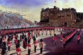 The installation of the Governor of Edinburgh Castle, receiving the Keys of the Castle by the Quarter Master 2nd Battalion. Summer 1991.