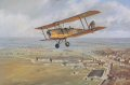 A de Havilland DH.82A Tiger Moth over Hatfield Aerodrome, early in 1939.  Hatfield was the home of the de Havilland Aircraft Company and No.1 Elementary Flying Training School.