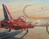 On 12th November 2008 The Red Arrows generously welcomed the Midlands Branch of the Guild of Aviation Artists to sketch their pre-season activities.  This print is just one of the results. ......