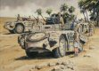 The Fezzan, Libya, North Africa, November, 1942.  The Italian Reparto Celere 3 of the 'Raggruppamento Sahariano AS', was the first unit to be equipped with the unique Camionetta 42 'Sahariana'.  The platoon was used for patrols and h......