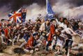 Camerons and Stuarts attack the centre and flank of Barrells Regiment (4th Foot) at the Battle of Culloden. ......