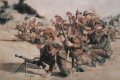 June 6th 1944 allied troops land in Normandy, here assault troops of the South Lancashire Regiment of the British 3rd Infantry Division storm ashore at sword beach.