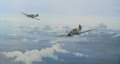 Depicting ME109s flying over the Russian Front, the background is the enormous panorama of the Russian Steppe.  The enormity of the battlefield on the Eastern Front was staggering in its vastness, stretching, as it did, nearly two thousand miles fr......