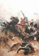 The painting shows Lieutenant T. Melville along with Lieutenant N J A Coghill attempting to Save the Queen's Colours of the 1/24th and fight their way out of the Battle of Isandhlwana.  Lieutenant Melville was the adjutant of the 1st Battalion, t......