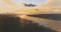 It is June 1944 and, as dawn begins to break over East Anglia, Mosquito B Mk XVI bombers of the Light Night Striking Force return from a raid over Berlin. The sun is just beginning to rise and the peaceful tranquility is shattered as these majestic aircraft power in from the North Sea, flying at low level over the Norfolk marshes.