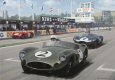 This striking picture shows Stirling Moss in the Aston Martin DBR1 blasting past the pits on his way to victory in the 1959 Goodwood TT.  This win clinched the 1959 World Sportscar Championship for Aston Martin, who became the first British marque t......