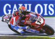 Neil Hodgson celebrates winning the World Superbike Championship at Assen, September 2003.