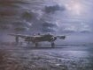 The stillness of the winters night is shattered by the Lancasters of RAF Bomber Command departing On Ops.