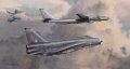 No.5 Sqn and No.11 Sqn Lightnings intercept a Tu-95 Bear, supported by an essential Victor tanker.  QRA, day and night, 24hrs a day, 7 days a week 52 weeks a year, 365 days a year - never a day off, always ready!  Over and over again for so many years, the air defences of Britain were regularly tested by Russian Tu-95 Bears  as they probed NATO airspace high above the North Sea.