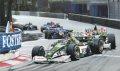 Eddie Irvine and Johnny Herbert.  Jaguar Cosworth R1s