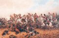 VAR458.  Capturing of the French Eagle by Sgt Ewart by Orlando Norie.