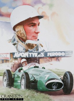 Sir Stirling Moss OBE by Gary Keane.