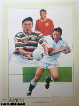 Rory Underwood - Leicester, England and British and Irisih Lions by Gary Keane.