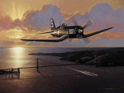 Golden Gate Corsair  by Stan Stokes.
