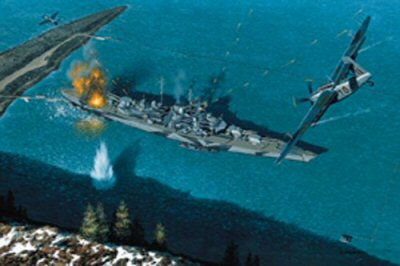 Attack on the Tirpitz by Stan Stokes.