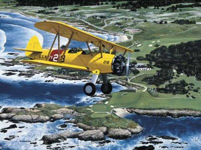 Stearman Over Cypress Point by Stan Stokes.