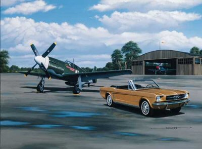 Vintage Mustangs by Stan Stokes.