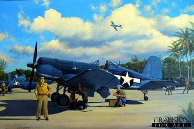 Boyington Takes a Break by Stan Stokes.