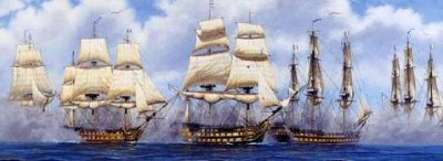 The Battle of Trafalgar by Stan Stokes.