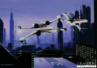 X-Wings in the City by Ivan Berryman. (P)