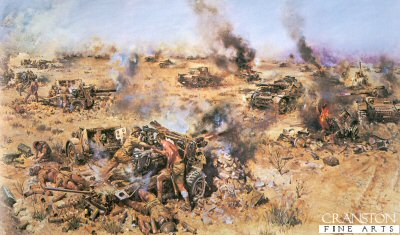 The Battle of Knightsbridge, 6th June 1942 by Terence Cuneo.