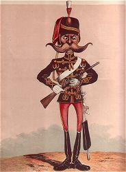 Sentry (Hussar) by Major T. S. Seccombe (P)