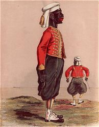 Zouaves of the Negro Infantry Gold Coast by Major T. S. Seccombe (P)
